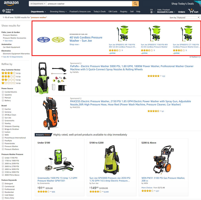 Amazon Sponsored Brands: