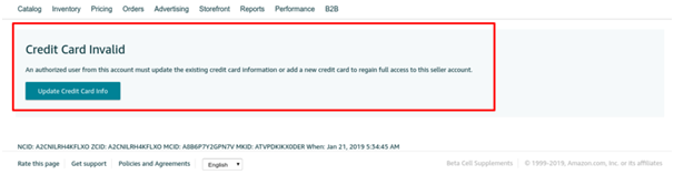 Invalid Credit Card: