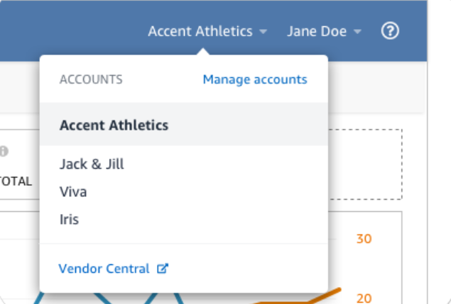 View & manage accounts