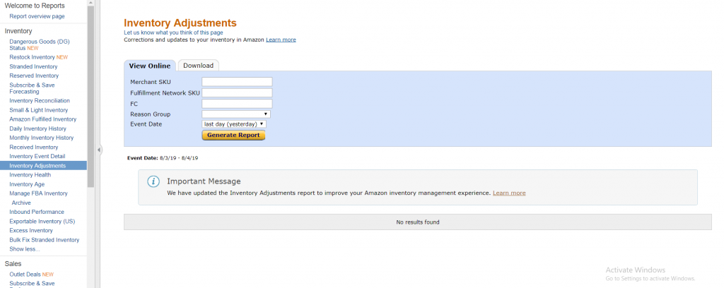 Amazon Inventory Management