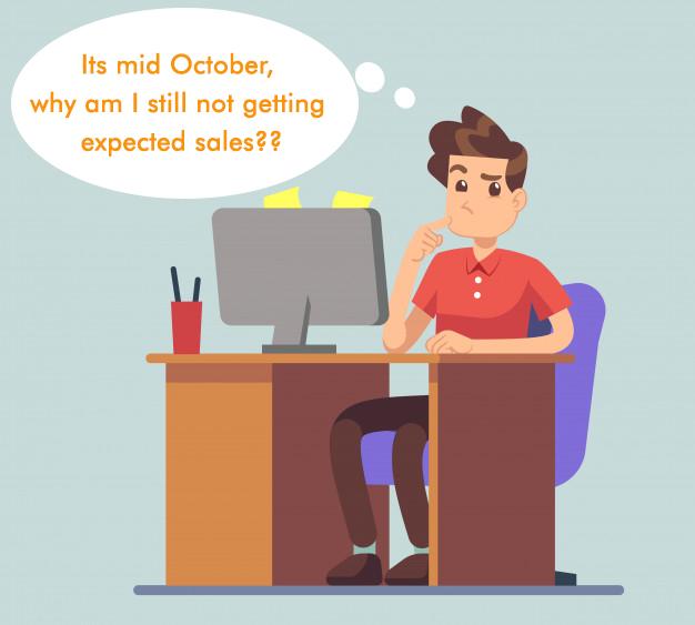 No sales in October
