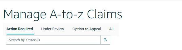Manage A-to-z Claims