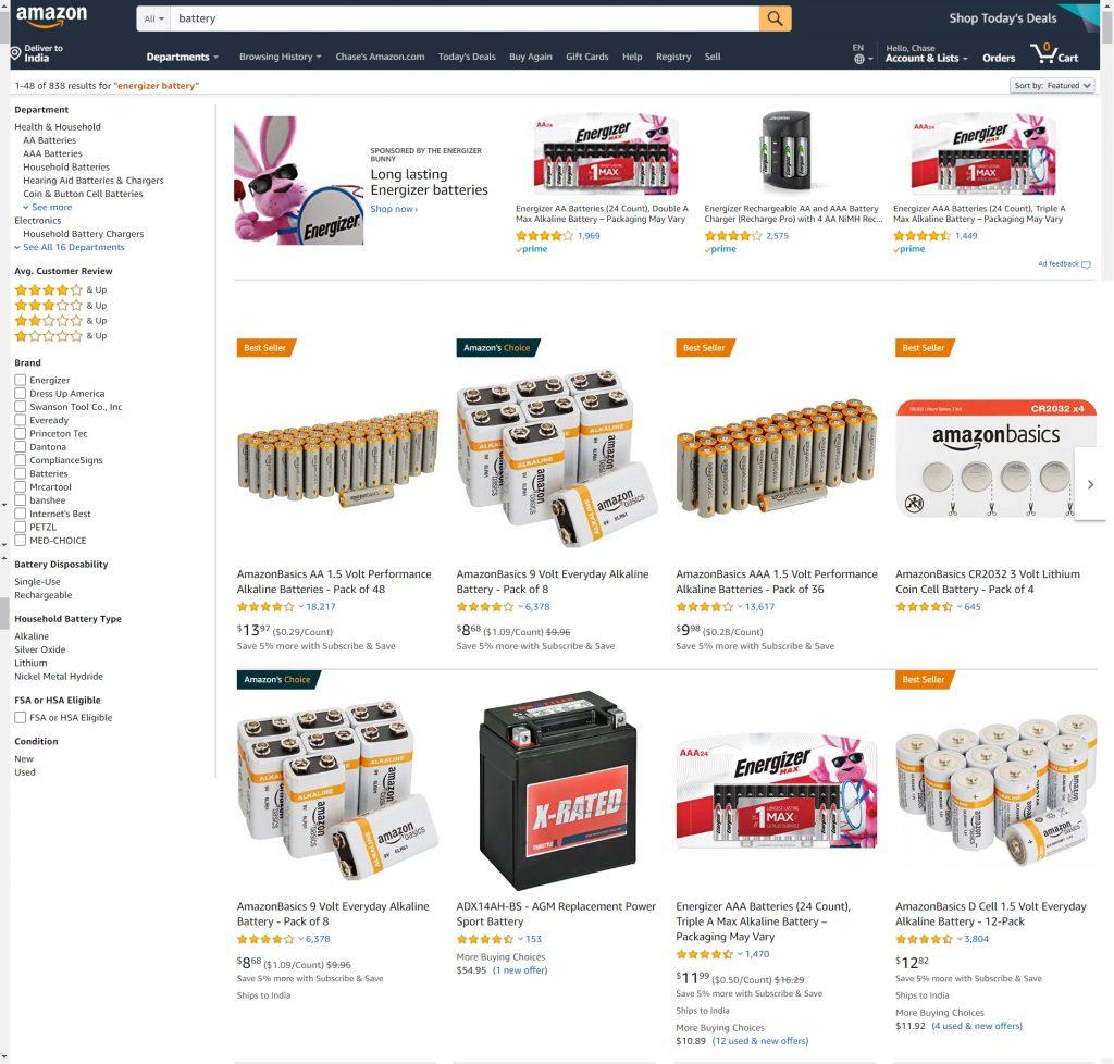 Amazon Battery