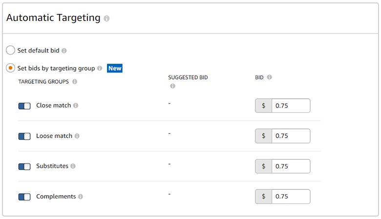 Targeting Groups for Automatic Campaigns: