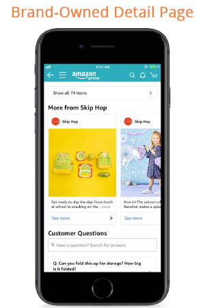 """When a customer scrolls down through your product detail page, he/she can view Amazon Posts sandwiched between """"Customers who bought this item also bought"""" and the """"Customer's Questions"""" section."""