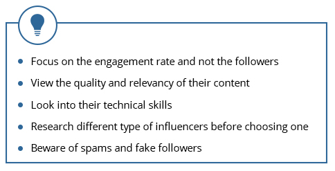 You don't need to define a target market, or choose a specific strategy, all you have to do is finding the right influencer because his/her audience will already be interested in what the influencer posts.