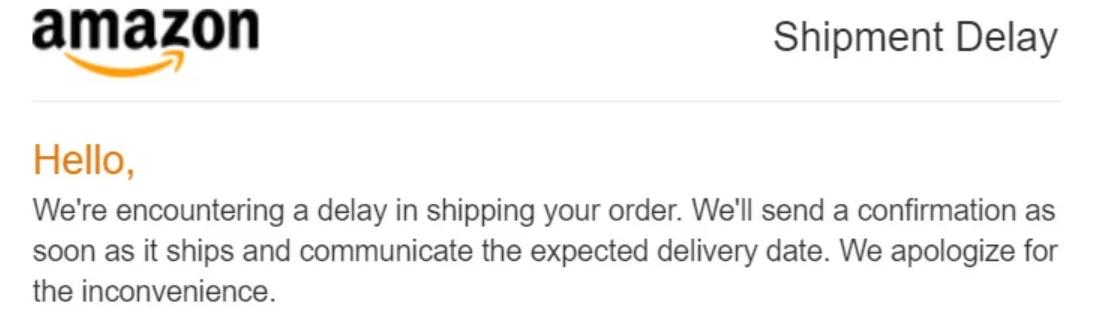 Shipment Delay