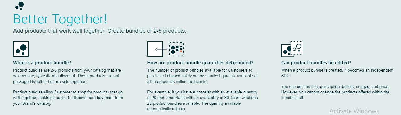 Amazon's Virtual Product Bundle program
