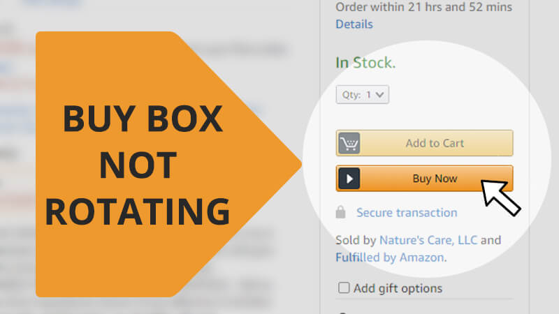 Buy box completely stopped rotating for the past few weeks