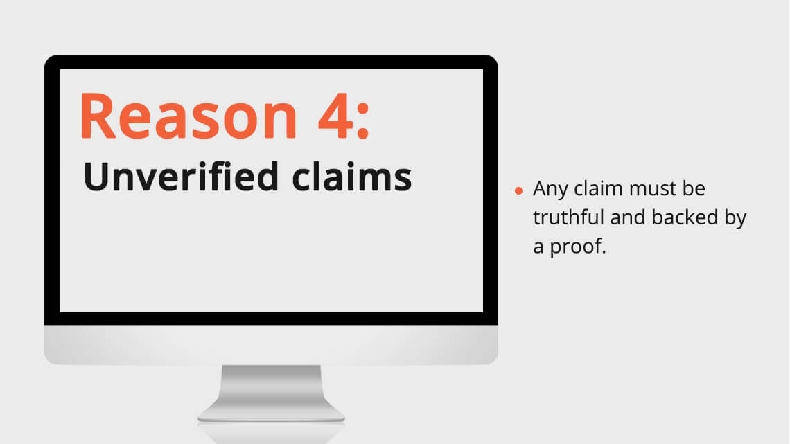 Unverified claims