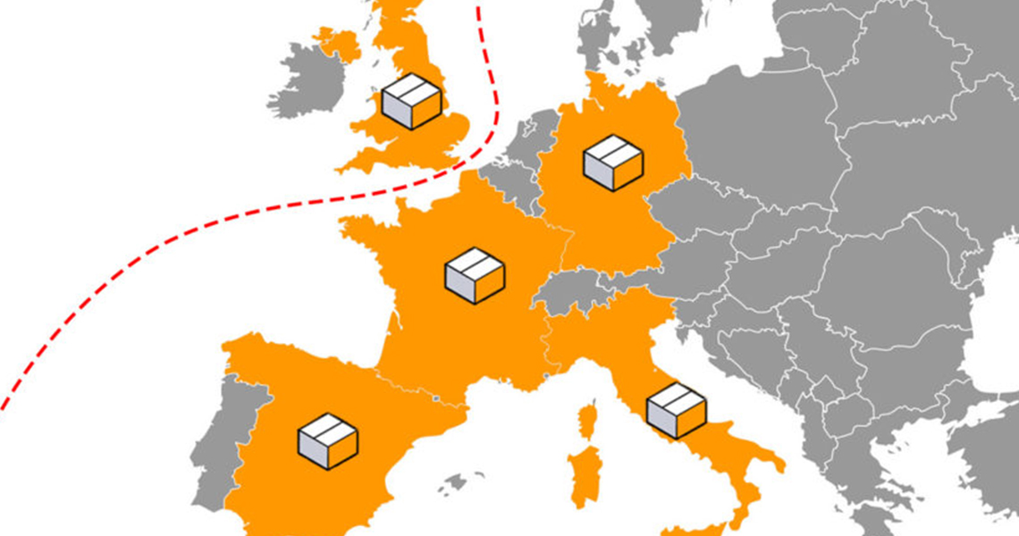 Amazon's UK operation will split from the EU and will no longer be affiliated with EFN (European Fulfilment Network)