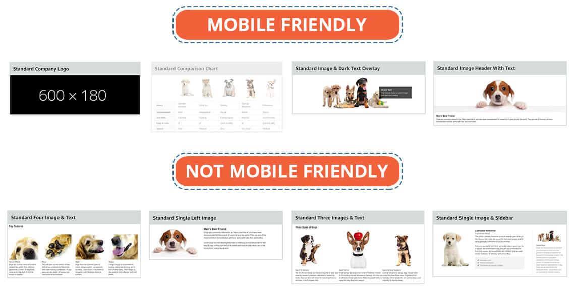 non-mobile friendly