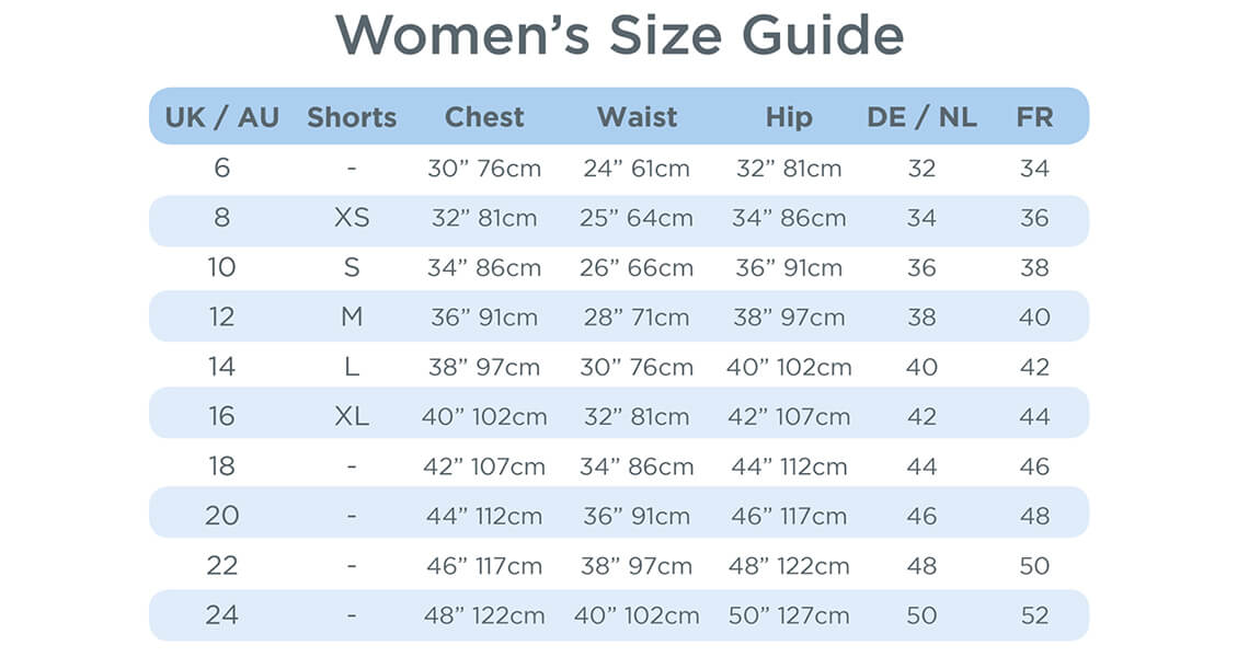 Include a detailed sizing guide