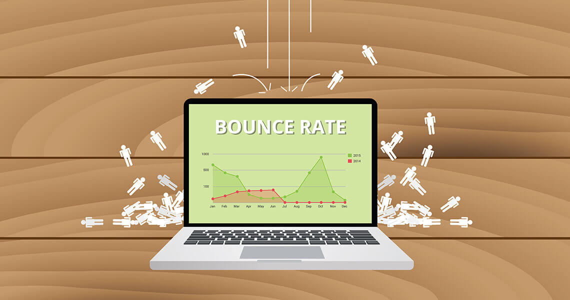 Bounce rate is soaring