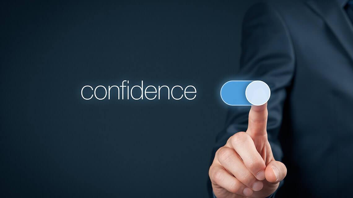 Never be overconfident