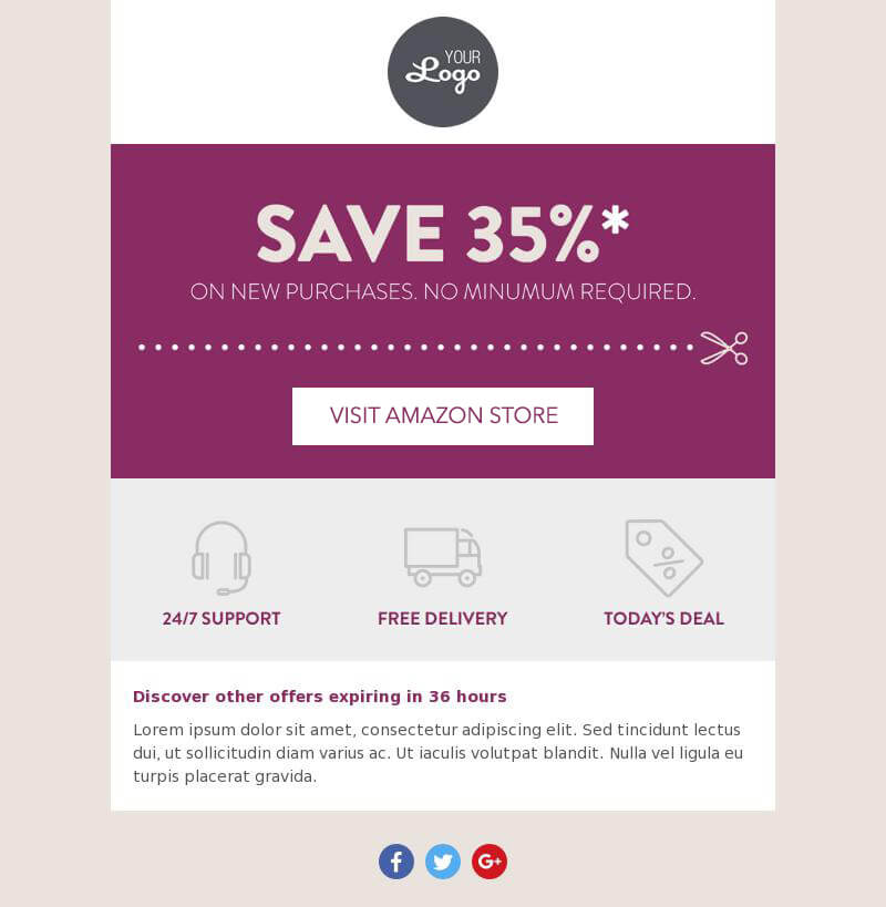 Send reminders on special discounts
