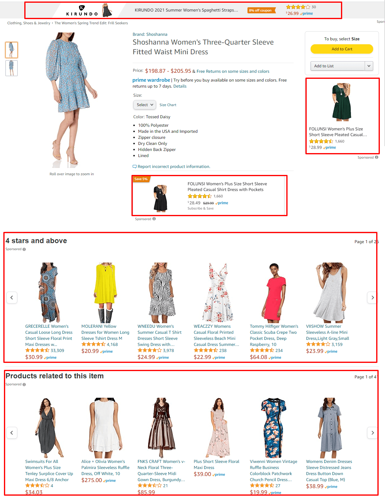 Probably everything you see on detail page an ad