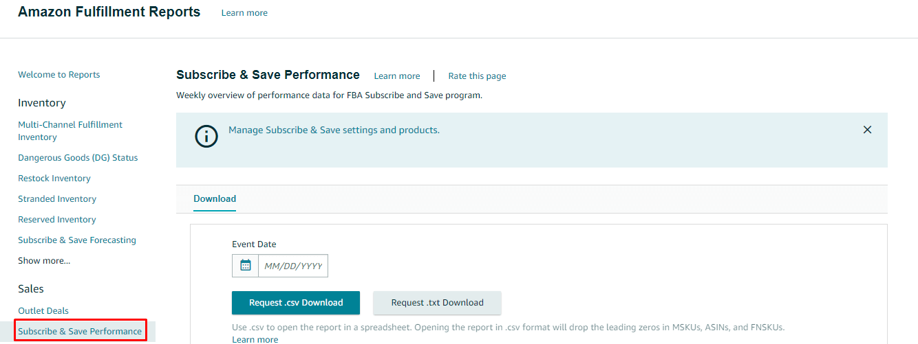 How to measure Subscribe & Save results?