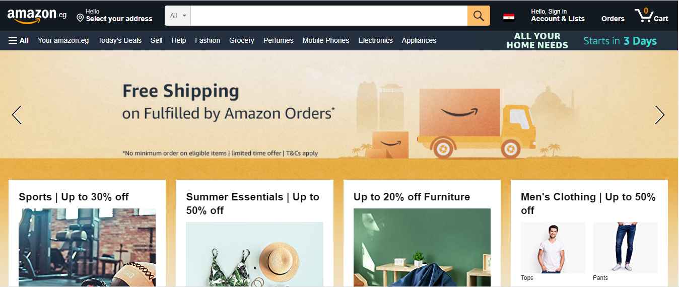 Amazon Launches in Egypt
