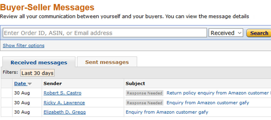 Buyer-Seller Contact Response Time